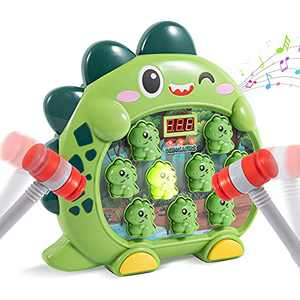 Whack A Mole Game Toddler Toy with 2 Hammers, Dinosaur Hammering Pounding Toys for Age 3 4 5 6 7 Years Old Kids