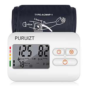 """Upper Arm Blood Pressure Monitor with Accurate Digital Automatic Measurement,Blood Pressure Machine with Large Adjustable Cuff(8.7"""" to 16.5""""), 2x120 Sets Memory and 2 Users Mode for Home Use"""