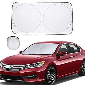 BISOY car Windshield Sun Shade - Provides Maximum and Sun Protection, Keep Your car Cool and Damage - Easy to use car Accessories | is Suitable for Most of The Windshield (Medium(59x31.4inches))