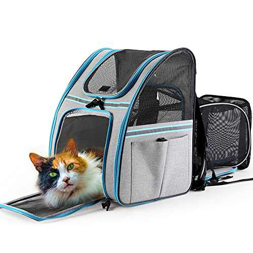 Pet Carrier Backpack for Dogs and Cats,Soft Sided Mesh Breathable Collapsible Pet Travel Bags,Designed for Travel, Hiking, Walking & Outdoor Use