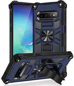 CATiabax Compatible with Samsung Galaxy S10 Plus Case [ Military Grade ] [Kickstand ] 12ft. Drop Tested Protective Case (Blue)