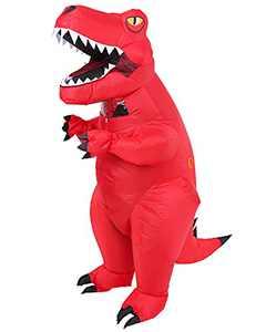 ZRen Inflatable Dinosaur T-Rex Costume Adult Blow up Halloween Dino Suit Cosplay Red