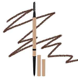 Lady Up Eyebrow Pencil, Eyebrow Pen Makeup Precision Point Soft Liner Brow Pencils, Double Head with Brush, (Chocolate)