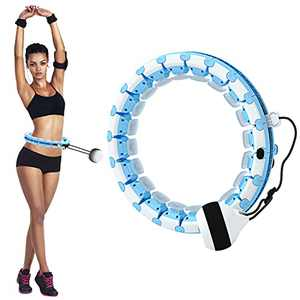 XXSZHY Hoola Hoop for Adults Weight Loss Hula Circle Weighted Hoops 2 in 1 Fitness Weight Loss Massage Non-Fall Exercise Hoops with 24 Detachable Knots Adjustable Auto Spinning Ball for Adult