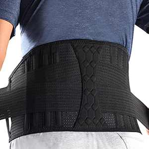 Lumbar Support Belt Lower Back Brace for Lifting, Herniated Disc, Sciatica, Pain Relief,Breathable Lumbar Brace for Men & Women