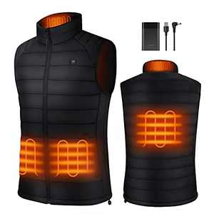HEATOO Heated Vest for Men , Lightweight Heating Jackets with 10000mah Battery Pack Rechargeable, Water Wind Resistance Electric Vest for Skiing Ice Fishing Hunting (Men, Medium)