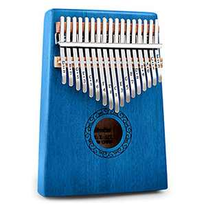 Kalimba Thumb Piano,YUNDIE Potable 17 Keys Mbira Finger Piano with Tune Hammer and Study Instruction,Musical Instruments Gift for Kid Adult Beginners Professional(Blue)