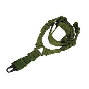 A-N Wide Use Safety Rifle Sling Rope, Adjustable Strap Rope for Outdoor Activities - Green