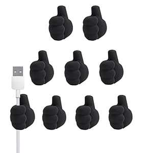 9pcs Cable Clips,Desk Cable Straps, Cord Organizer,Cable Management,Wire Holder,Cord Holder,Gift Cute Finger Silicon Material Wire Hiders for Organizing Cable Wires