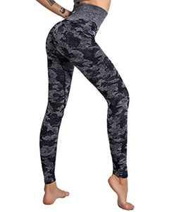 Xikaga High Waisted Leggings for Women Sports Seamless Gym Yoga Leggings Fitness Workout Camo Yoga Pants
