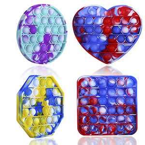 Veggicy Pop Bubble Sensory Fidget Toys Pop Bubble It Silicone Game Toy,Set Silicone Squeeze Bubble Sensory Toys for Kids Students Friends Family Stress Relief