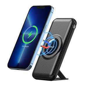 iWALK Magnetic Wireless Power Bank, 20000mah Portable Charger with 15W Wireless Charging and 20W USB-C PD, Smart LED Display & Phone Stand, Compatible with iPhone13 12 Pro Max Mini