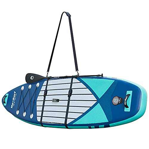 Holoana SUP Carrying Strap, Paddle Board Accessories for Women Men, Surfboard Carrier with Heavy Duty Shoulder Strap Adjustable, SUP Storage Strap Sling for Paddleboard, Kayak, Canoe, Surfboard