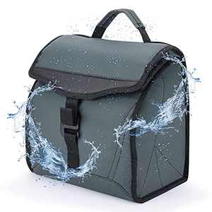 Packable Lunch Bag Insulated Lunch Box for Men Waterproof Cooler 14 Cans with Handle for Work School Picnic Thermal Collapsible Cooler Bag for Adult , Green