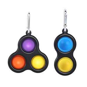 2 Pack Simple Dimple Fidget Toy Sensory Dimple Toys Set Simple Dimple Fidget Popper Toy for Kids