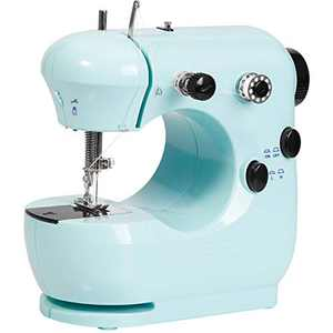 Sewing Machine, Portable Sewing Machine with Extension Table, Handheld Sewing with 2-Speed & Foot Pedal, Mini Sewing Machines Lightweight Sewing for Kids/Adult/Beginners/Household/Tailor
