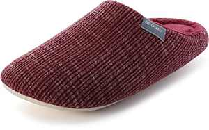 BRONAX Slippers for Women With Memory Foam Outside Anti Slip Soft Fuzzy Fur Lined Lining Comfortable Spa Indoor Ladies Home Lightweight Close Toe Bedroom Shoes Red
