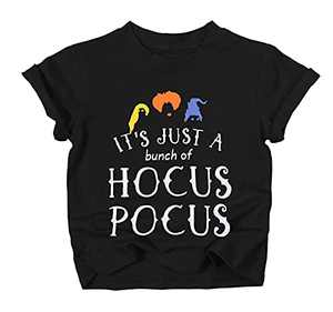 UNIQUEONE Baby Girls Boys It's Just A Bunch of Hocus Pocus Halloween T Shirt Sanderson Sister Graphic Print Tee Shirts Black