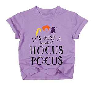 UNIQUEONE Baby Girls Boys It's Just A Bunch of Hocus Pocus Halloween T Shirt Sanderson Sister Graphic Print Tee Shirts Purple