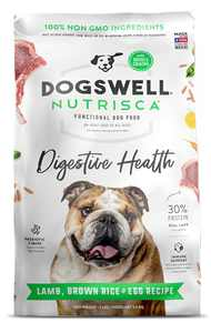 DOGSWELL Nutrisca Digestive Health Dry Dog Food, High Protein Lamb, Brown Rice & Egg Recipe 12 lbs. Bag