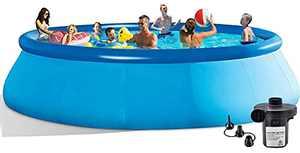 Swimming Pools Above Ground Pool - 12FT Kiddie Pool with Air Pump Baby Pool Swimming Pool Above Ground Pools for Pools for Kids Pool…