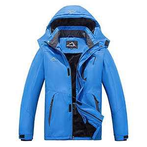 FTIMILD Mens Winter Coat, Waterproof Ski Jacket Winter Windproof Rain Jacket Warm Snow Coats