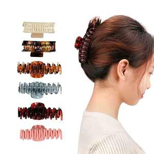 Large Hair Claw Clip for Women- 4.33 Inch Nonslip Large Hair Claw Clips for Women and Girls Thick Hair.Strong Hold Fashion Claw Clips for Thin Hair, Durable 6 Colors Available (6 Packs)