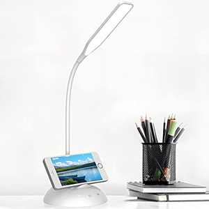 Lezdig LED Desk Lamp, Table Lamps for Home Office Bedroom with USB Charging Port, 25 Light Modes Eye-Caring Desk Lamps, Touch Control, Natural Light Dimmable for Working, Reading
