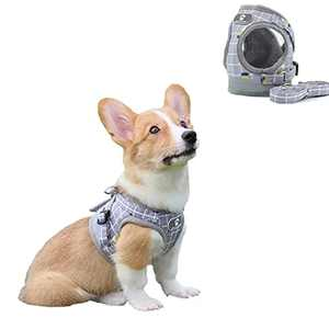 Dog Harness No Pull Lead Sets Comfort Dog Carrier Small-Medium Pet Carrier Adjustable Cat Carrier Warm Breathable Reflective Carriers Alloy Buckle Lead Leash Outdoor Training Walking Dog Training Vest