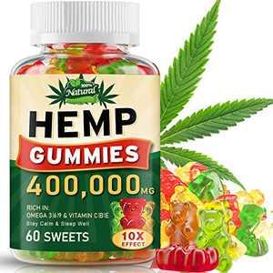 400,000MG Hemp Gummies, Hemp Oil Gummy Bears, 60 Gummies