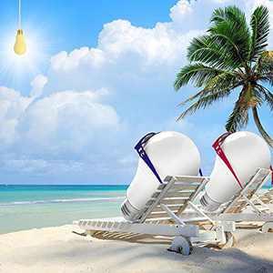 McDen A19 LED Bulb, Light Therapy Lamp Bulb, LED Full Spectrum Light Bulb, Sleep Enhancing Light Bulb E26/E27 Enjoy The Sun Eye-Care 13W Equivalent 100W 2 Pack
