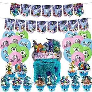Monster Inc Birthday Party Supplies for Home Decoration kids Birthday Party Decor 46 Pack