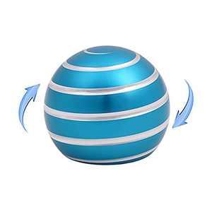 jubigance Fidget Toys Kinetic Desk Ball (Blue, X-Small)