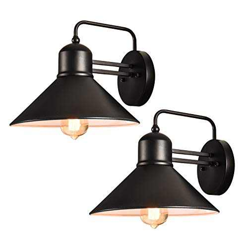 Wall Sconce Lighting, LLHZSY Barn Wall Light Fixture 2 Pack Wall Lamp Vintage Industrial Indoor and Outdoor Lighting Fixture