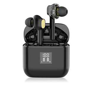 YW YUWISS TWS07 Bluetooth 5.0 True Wireless Earbuds with Charging Case Wireless in Ear Earphones IPX6 Sweatproof with Noise Cancelling Mic for Apple iPhone 11/8/7 Android Samsung