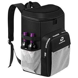 DAUSROOB Insulated Cooler Backpack Lightweight Leakproof Soft 33 Can Large Capacity Cooler Bag Stylish Fashion Design Backpack with Cooler For Men Women To Work Picnic Camping Hiking Fishing Beach 27L