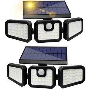 ZHUPIG Solar Flood Light Outdoor 2 Pack