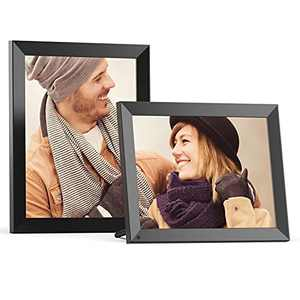 FULLJA Wi-Fi Large Digital Picture Frame 15 Inch, Smart WiFi Digital Photo Frames, HD Touch Screen, 16GB Memory, Share Photos and Videos Via App or Email, Unlimited Cloud Storage, Wall Mountable