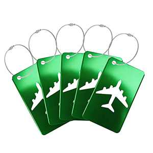 5Pack Luggage Tag with Name ID Card Perfect to Quickly Spot Luggage Suitcase