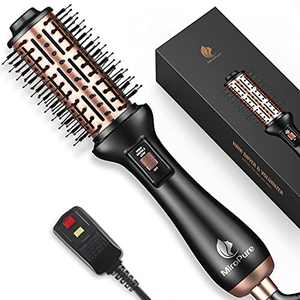 Hair Dryer Brush, MiroPure Hot Air Brush, 4 in 1 Blow Dryer Brush for Women, One-Step Hair Dryer & Volumizer Brush with Leakage Protector, Blow Dryer Curling Brush, Upgraded Version Round Design