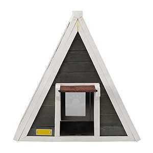 Outdoor Cat House for Kitties, Weatherproof,Double Doors Cat Tent with Escape Door, Outdoor Cat Shelter (Grey)