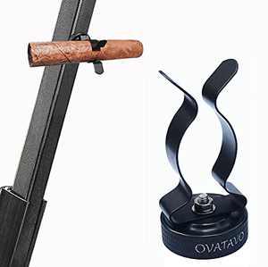 OVATAVO Cigar Holder Clip for Golf Cart - Portable Cigar Stand - Magnetic Cigar Rest - Cigar Minder for Outdoor and Travel