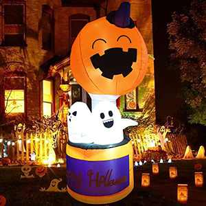 Halloween Decorations and Outdoor Halloween Decor - 6FT Halloween Inflatables with Cute Pumpkin,Halloween Decorations Indoor from Professional Designer