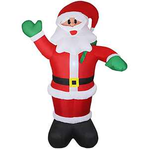 Inflatable Santa Claus 6ft Christmas Blow-Up Yard Decoration with LED Best Gift for Indoor Outdoor Holiday Party, with LED Light, Water Bag, and Electric Air Pump