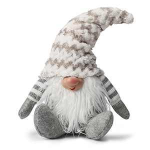 "Holiday Gnome Christmas Decorations 15"" Handmade Swedish Tomte Gnome Decor Plush Santa Gnome Christmas Ornaments Elf Tabletop Decoration Thanks Giving Day Gifts"