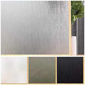 Window Film Privacy Removable Home Office Window Film Anti UV Window Cling Decorative Window Covering for Bathroom Door Silver Silk, (11.8 x 78.7 Inches)