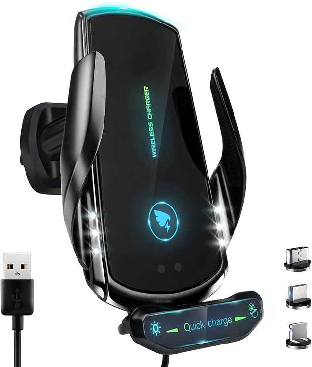 2021[New Upgraded] Wireless Car Charger for All Smartphones, 15W QI fast charging,Auto-Clamping Car Wireless Charger Air Vent Car Phone Mount