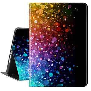Lokigo iPad 10.2 Inch Case for iPad 9th Generation 2021, iPad 8th Generation Case 2020, iPad 7th Generation Case 2019, Protective Hard Back Shell for Girls Women, Auto Wake/Sleep, Colord Bubble