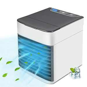 Mekomy Portable Air Conditioner, Quiet USB Air Cooler with 3-Speed, Personal Air Conditioner with LED Light for Small Room/Office/Dorm/Bedroom