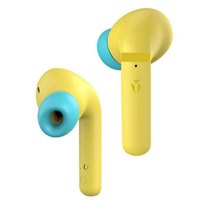 NYZ Bluetooth Earphones, NYZ Apollo 1 Hi-Fi Stereo Earphones with ENC Call Noise Reduction, Ergonomic Design, 40 Hours Working Time, APTX, Portable Charging Case for Workout, Office, Travel (Yellow)